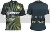Borussia Dortmund Kappa 09/10 Home, Away, Third Kits