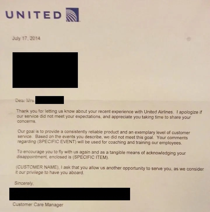 This Awesome Letter To Customer Service Got American