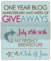 My Freshly Brewed Life :: One Year Blog Anniversary and Week of Giveaways