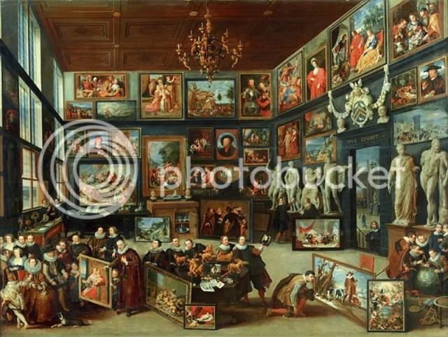 Wunderkammer van Cornelis Van der Geest geschilderd door Willem van Haecht