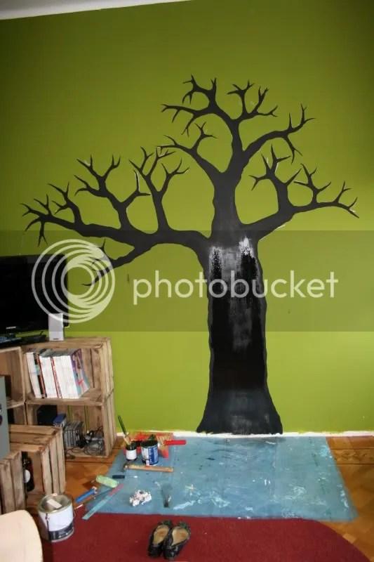 Krijtbord boom - alles laten drogen