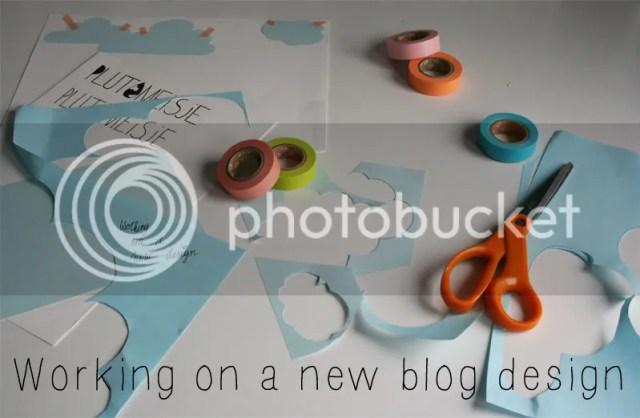 Plutomeisje - werken aan een nieuw blog design