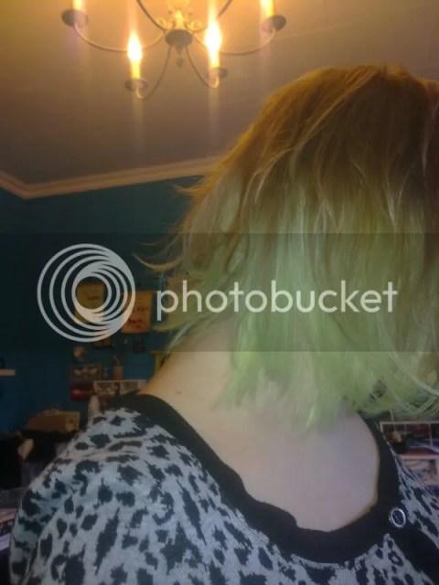 Vorige Week - verfde ik mijn haar groen