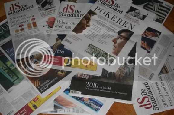 heel veel kranten om door te nemen