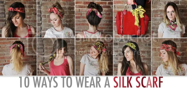 Link Love: Ten ways to wear a silk scarf