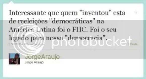"""Interessante que quem """"inventou"""" esta de reeleições """"democráticas"""" na América Latina foi o FHC. Foi o seu legado para nossa """"democracia""""."""