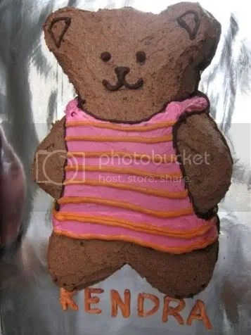 Teddy bear cake for Kendra