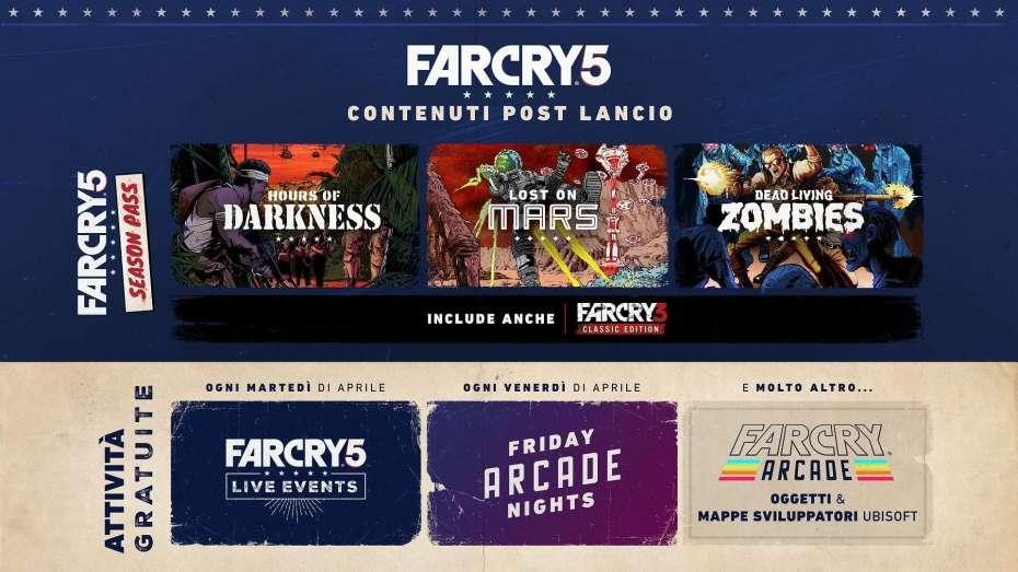 far cry 5, Far Cry 5: Ubisoft svela i contenuti del post-lancio
