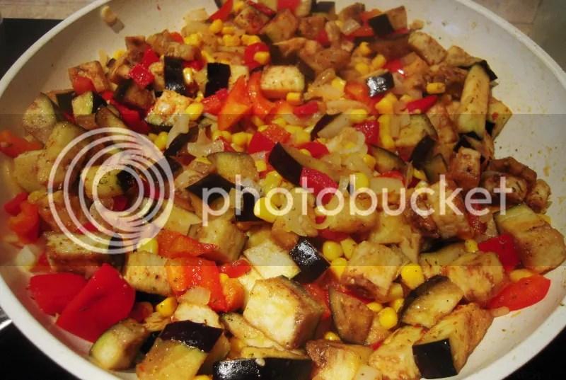 bakłażan kukurydza cebula papryka