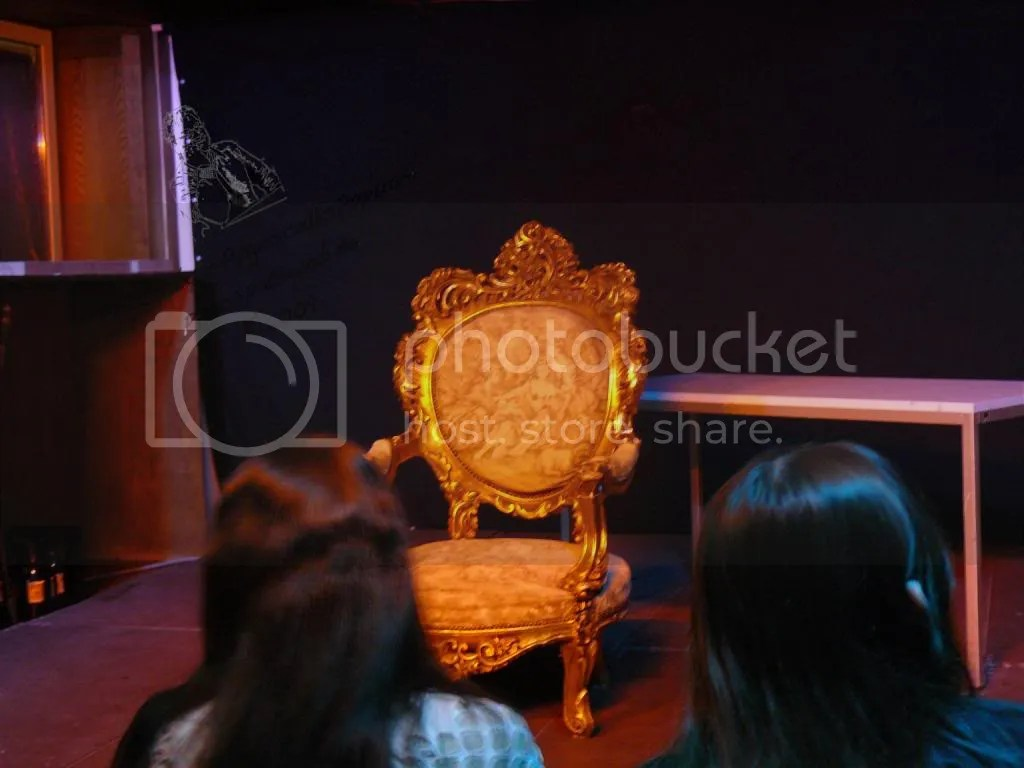 The chair. I wonder, if it was flown in from the USA?!
