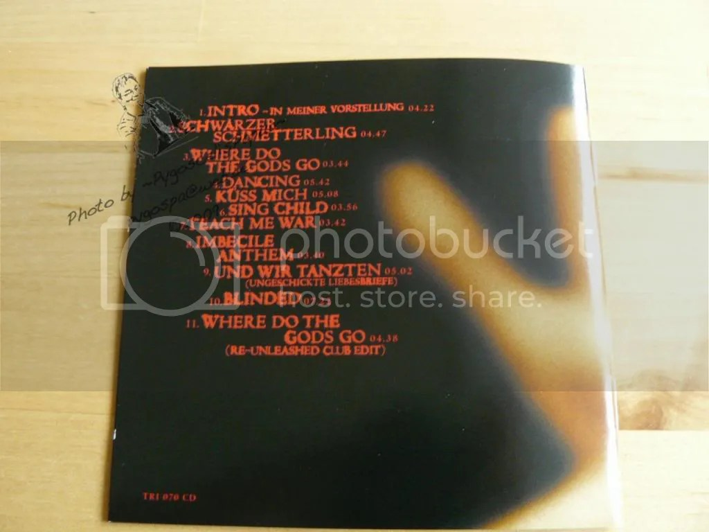 Back of the booklet