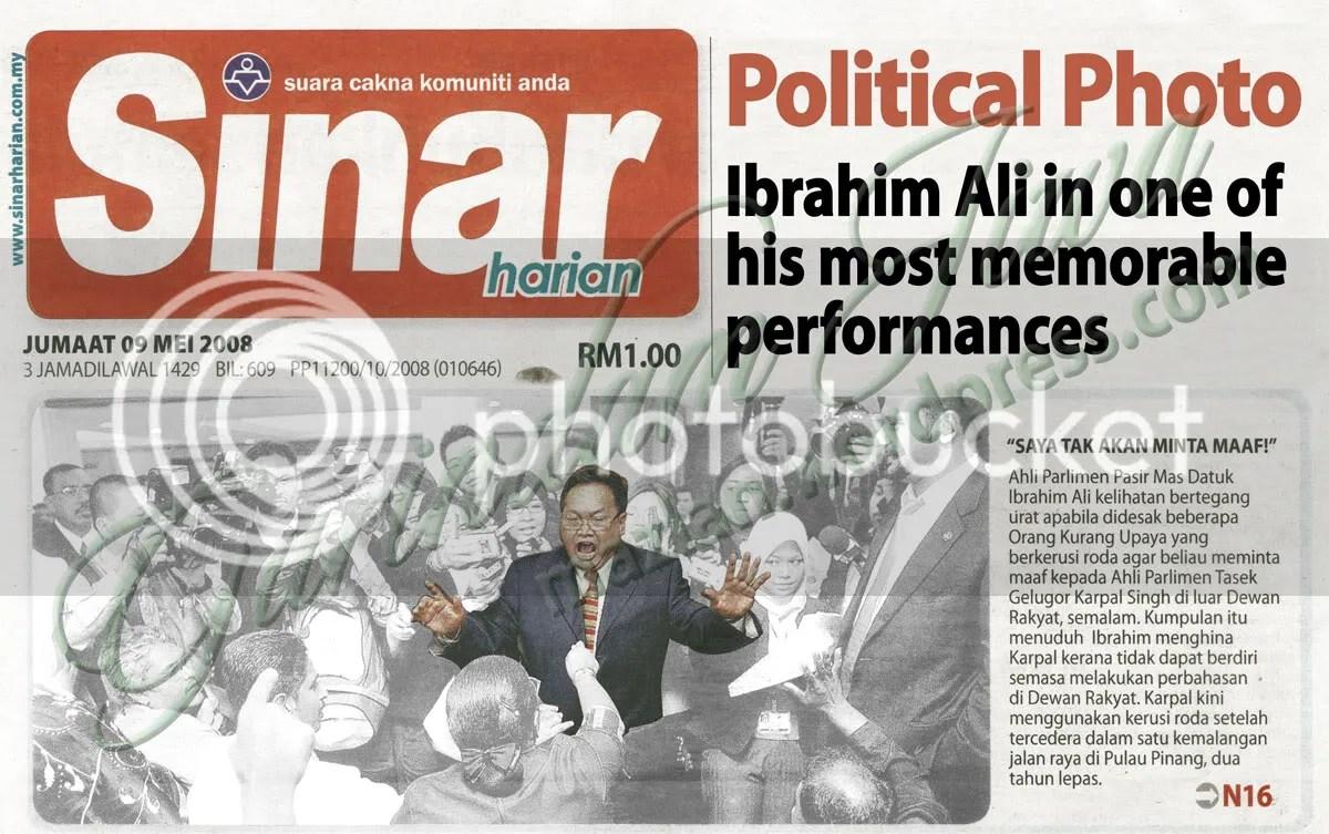 Ibrahim Ali in Sinar 8 Mei 2008