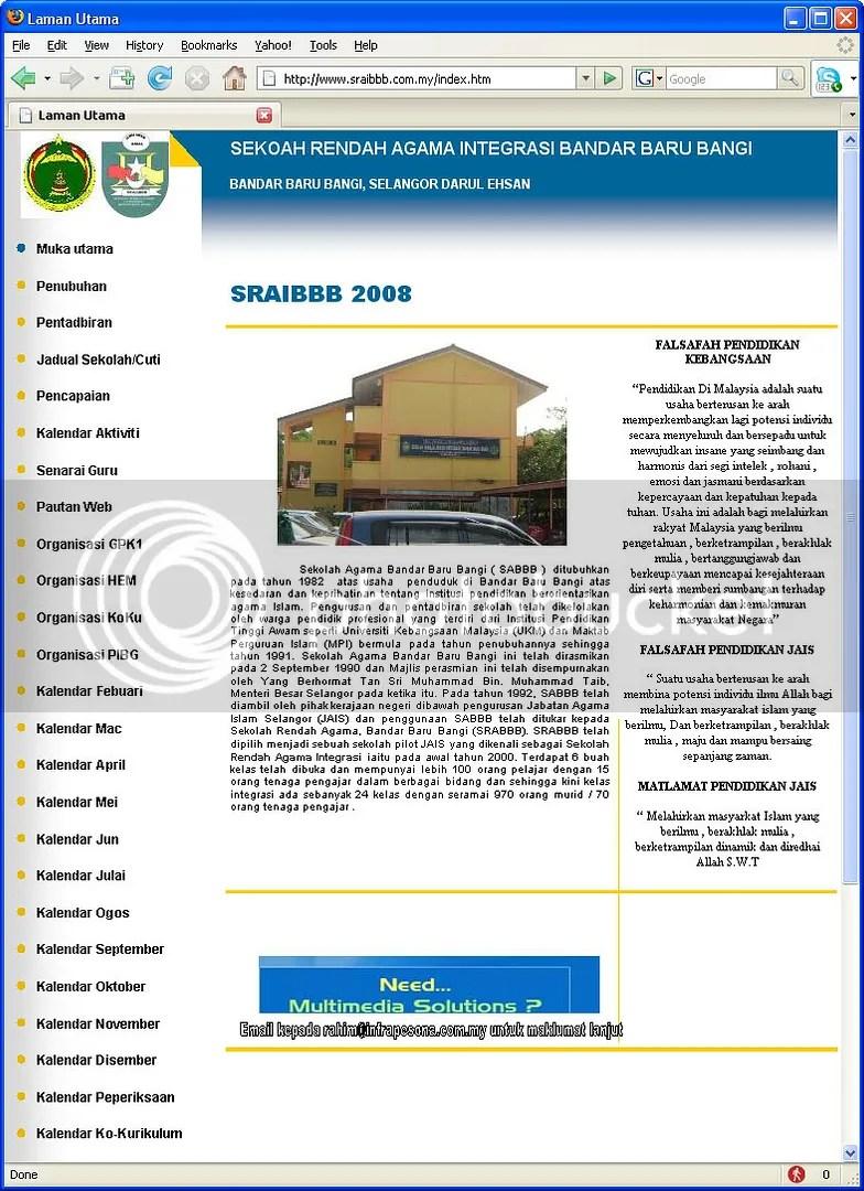 Web Page SRAI BBB