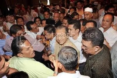 Dr. Mahathir after announcing his departure from UMNO, courtesy of The Star Online