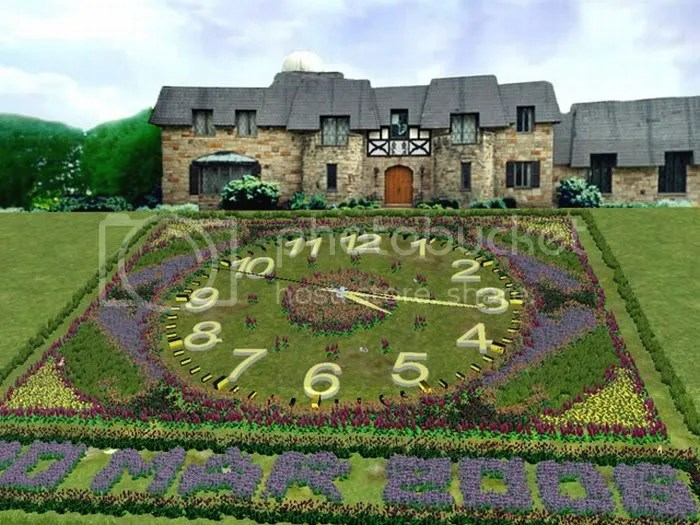 FLOWER CLOCK  PICTURES 2