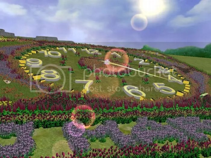 FLOWER CLOCK  PICTURES 1