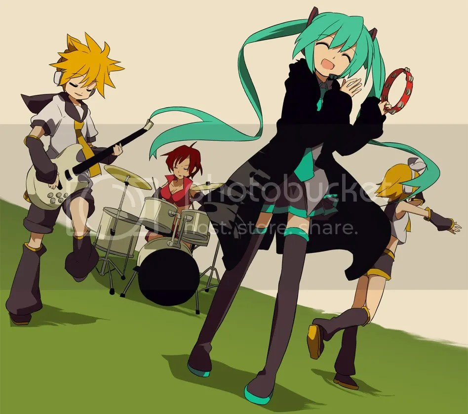 Vocaloid concert with Miku, Rin, Len and Meiko!