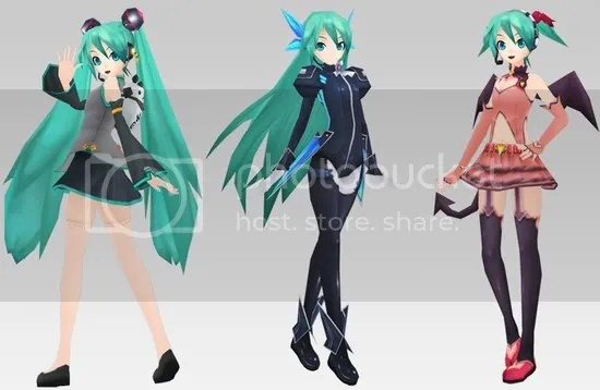 And here's more costumes updates for Miku