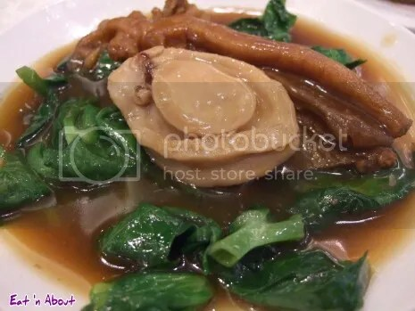 Top Cantonese: Abalone, duck's foot and pea shoots in chicken broth