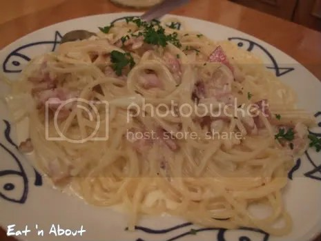 Marcello Pizzeria: Spaghetti Carbonara