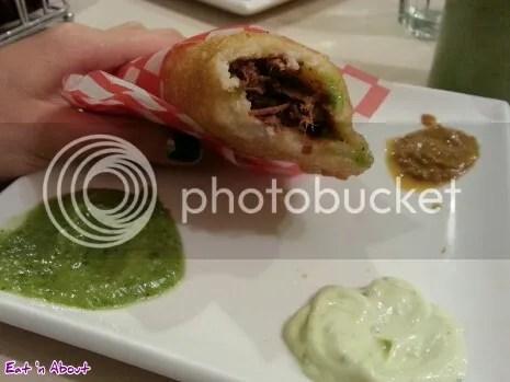 Magda's Restaurant: Shredded Beef (Carne Mechada) Empanada