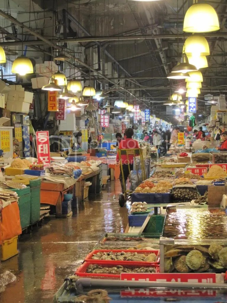 Noryangjin Fish Market in Seoul, South Korea