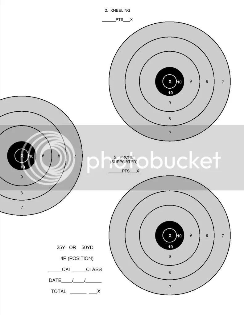 Rimfire Targets Printable 22