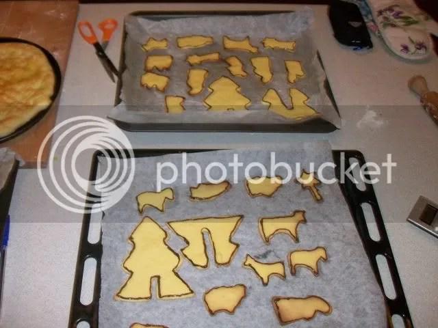 Biscotti natalizi presepe e abeti in 3D