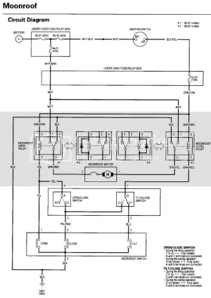 anyone has a moon roof wiring diagram  HondaTech  Honda