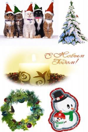 Новогодние анимационные открытки (2014)
