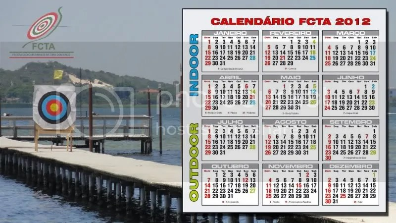 Calendário 2012 Tiro com Arco