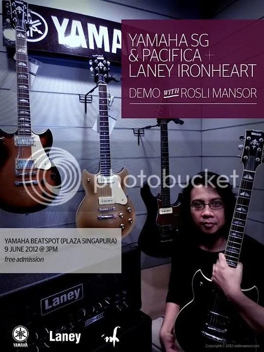 Rosli Mansor, Yamaha SG, Pacifica, Laney, Ironheart