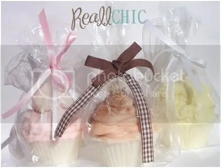 Cupcake soaps, candles and gifts from Reall Chic