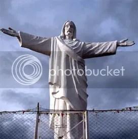Christ statue in Cuzco, Peru