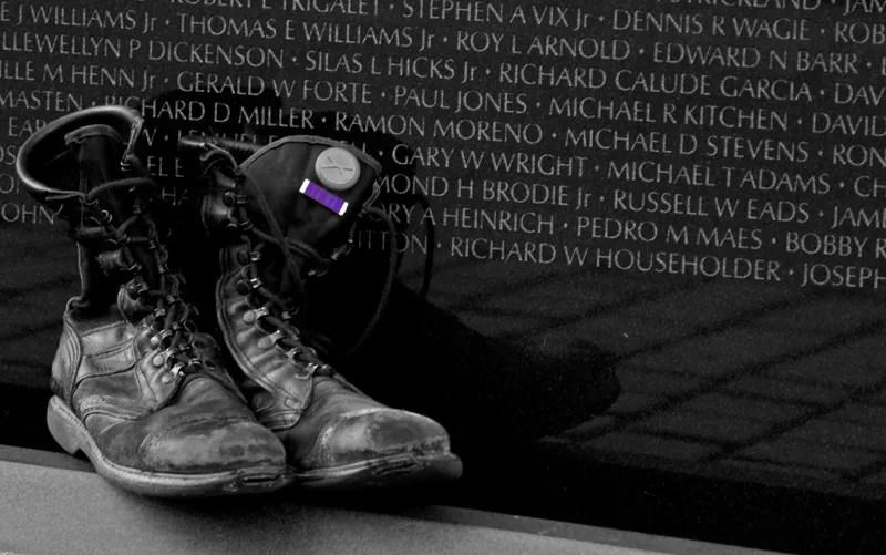 photo vietnam-veterans-memorial-boots-purple-heart_zps4722a3e8.jpg