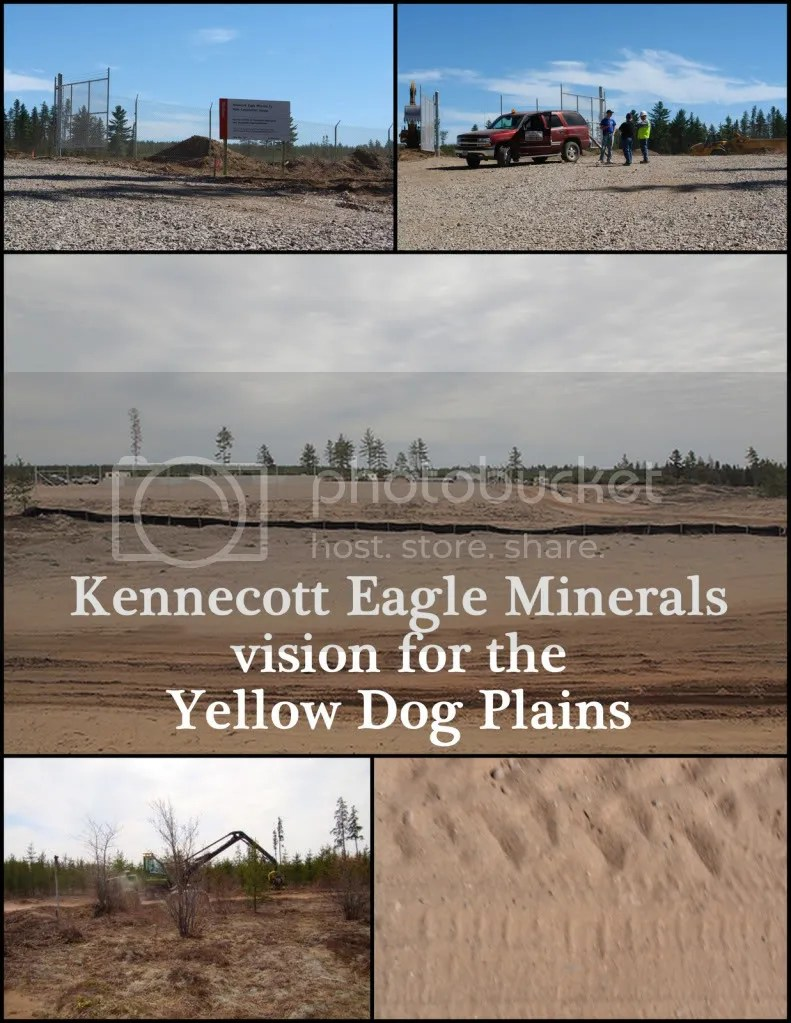 Collage: Kennecott Eagle Minerals Rapes the Yellow Dog Plains