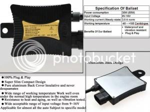 55W Xenon HID Headlight KIT Ballast H1 H3 H4 H7 H11 H13