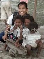 Jane with Aeta Children