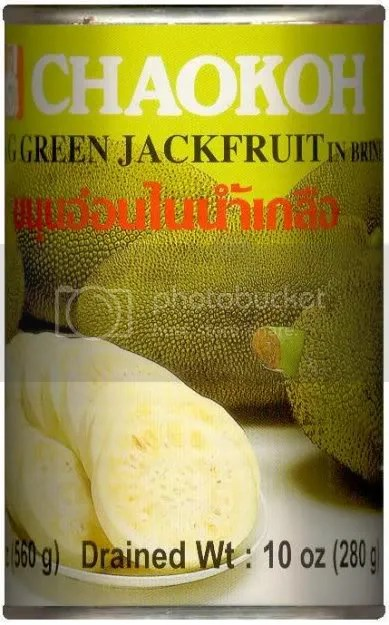 Young Green Jackfruit in can
