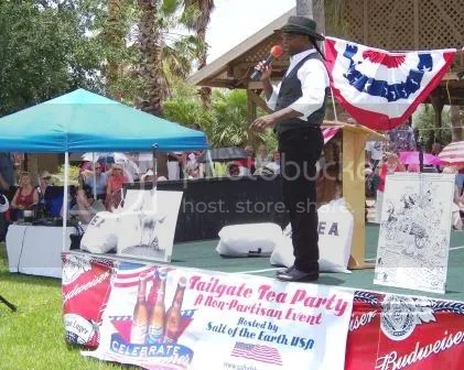 Lloyd Marcus at a Tea Party rally