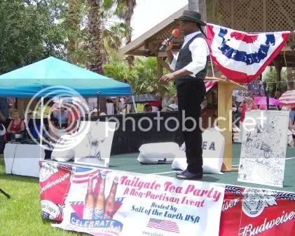 Lloyd Marcus at a Tea Party rally