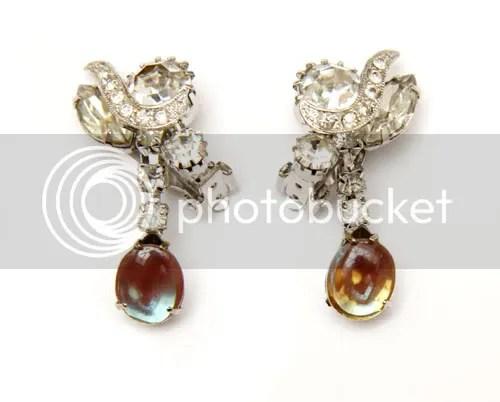 Diamond and Saphiret Earrings
