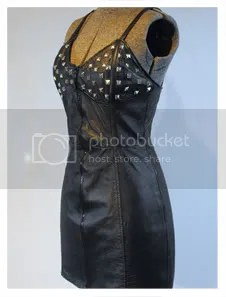 Studded Leather Dress