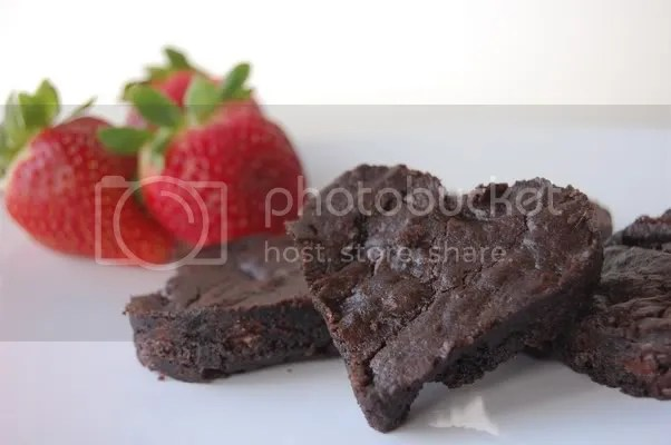 Heart-shaped Chocolate Brownies