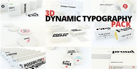 3D Dynamic Typography Pack - After Effects Project (Videohive)