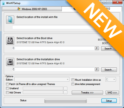 WinNTSetup 3.8.7 Beta 3 (x86/x64) Portable