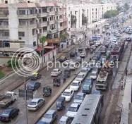 traffic jam in rain