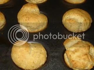 Dinner rolls, done baking.