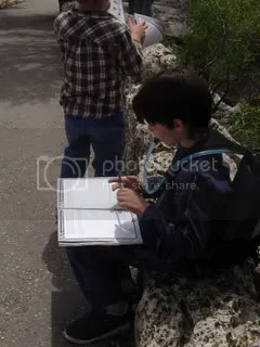 Grant works on his Junior Ranger book
