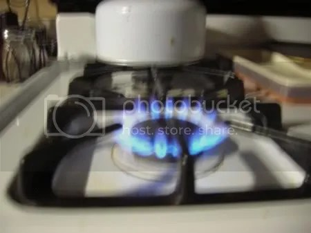 This is a gas burner from my stove.  I have not burned myself with it yet, but I did manage to burn just a couple meals early on (Im used to electric).